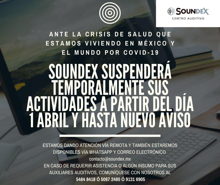 SOUNDEX SUSPENDE ACTIVIDADES